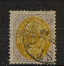 Danish West Indies 1873-1902 SG#20 7c YelloW & Lilac Used