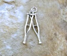 Sterling Silver Crutches Charm -1712