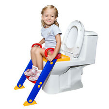 Childrens Toddler Ladder Folding Potty Training Step Up Kids Seat Fit Any Toilet