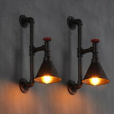 Industrial De Pared Tubo Lámpara Retro Luz Steampunk Vintage Lámpara De Pared Color Negro