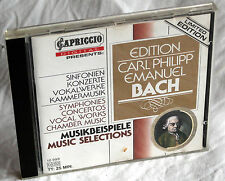 CD Edition Carl Philipp Emanuel Bach-Music Selections-Limited Edition