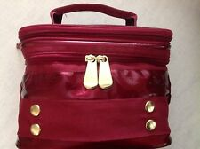 Serious Skin Care COLLAPSIBLE SOFT METALLIC BURGUNDY TRAIN CASE - 2 Compartments