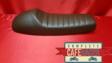 LS13 CAFE RACER FLAT TRACKER BRAT LONGER SEAT FINISHED IN BROWN LEATHERETTE