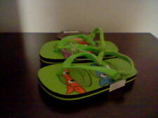 BRAND NEW TODDLER BOYS SIZE 5-6 MUTANT NINJA TURTLE FLIP FLOPS WITH BACK STRAP