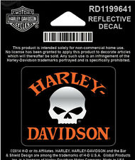 Harley Davidson Willie G Skull Reflective X-Small Decal