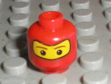 Tete LEGO FERRARI F1 Minifig head 3626bpx255 / Set 8375 8654 8673 8672 4850 ...