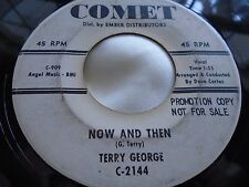 Hear Rare R&B Rocker Bopper 45 : Terry George ~ Now And Then ~ Comet 2144 Promo