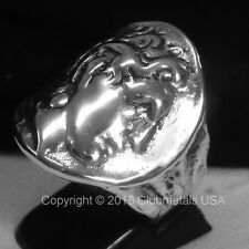 ALEXANDER THE GREAT STERLING SILVER GREEK COIN RING Ἀλέξανδρος ὁ Μέγας,macedonia