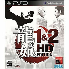 Ryu ga Gotoku PS3 Import Japan Playstation3 Yakuza 1&2 HD EDITION