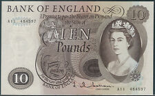 TMM* 1964-66 Great Britain Bank Note10 Pounds J Q Hollam P376a AU