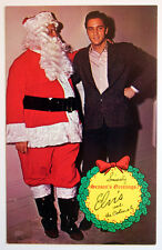 Elvis Presley & Colonel 1960s Season's Greetings Santa Christmas Postcard MINT