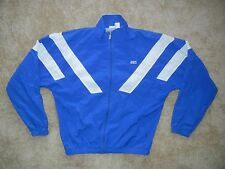 Vtg ASICS Blue/White Nylon WINDBREAKER JACKET Track Coat Size Men's XXL Soccer