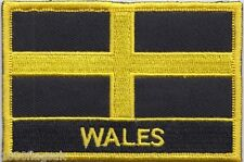 Wales St David's Cross Flag Embroidered Patch Badge - Sew or Iron on