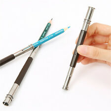 Adjustable Pencil Extender Dual 2 Head Holder School Art Sketch Writing Tools