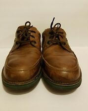 Hush puppies antique brown leather walking * the body shoe *MEN'S size 14 #