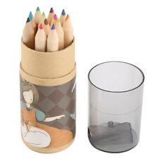 12pcs Watercolour Pencils Case Drawing Coloring Set Artists With Sharpener F7