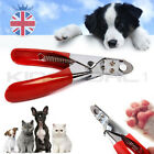 UK Stainless Steel Dog Cat Claw Clippers Scissors Pet Nail Toe Trimmers Cutter