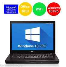 DELL LAPTOP LATiTUDE WINDOWS 10 PRO OFFICE CORE 2 DUO DVDRW WIFI COMPUTER HD PC