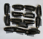 50Pcs 36mm Black U Shape Snap Metal Clips For Hair Extensions Weft Clip-on Wig