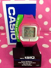 NEW Casio Women' Pink Resin Band Runner Series 60 Lap Alarm Digital Sports Watch