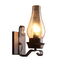 Antique Iron Rustic Sconce Industrial Wall Lamp Retro Metal Light Lighting Porch