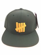 UNDEFEATED 5 STRIKE SNAPBACK HAT GREEN/YELLOW UNDFTD CAP NEW SUPREME 531204