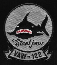 NAVY VAW-122 AVIATION CARRIER EARLY WARNING SQUADRON MILITARY PATCH Steel Jaw