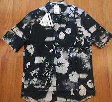 $370 Mens McQ Alexander McQueen Sport Shirt Abstract Floral 50 US 40 - Slim Fit