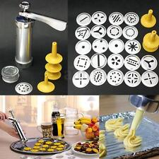 22pcs Disc Cookie Biscuit Making Maker Pump Press Machine Kitchen Decorating Gun