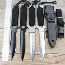Stainless Steel Outdoor Survival Diving Fishing Camping Fixed Blade Pocket Knife