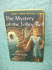 NANCY DREW MYSTERY OF THE TOLLING BELL #23 lst YELLOW SPINE EDITION PC BLUE EPS