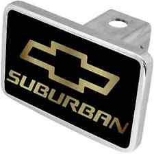 New Chevrolet Suburban Gold Word/Gold Logo Hitch Cover