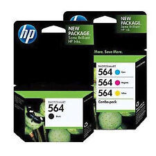 4 Pack Genuine HP 564 Set Ink Cartridges Black Cyan Magenta Yellow C6324
