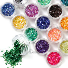 18 Colors Nail Art Crushed Shell Chips Powder Decoration Set Bling Nail Art Tips