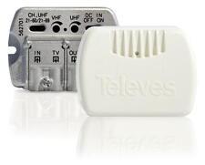 Amplificatori da interno 1ing/2usc VHF/UHF Televes 562702con filtro LTE 4G