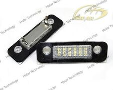 2x LED License Plate Light For Ford Fiesta Fusion 02 up Mondeo MK2 1996-2000