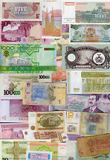 Set of 25 Different Banknotes 25 Different Countries Poland Estonia Brazil #F