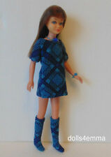 Vintage SL Skipper Doll CLOTHES Dress, Boots and Jewelry HM Fashion NO DOLL d4e