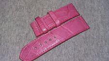 26mm/26mm Pink Genuine Alligator SKIN WATCH STRAP BAND