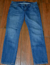 OLD NAVY DIVA Distressed WASH Low Rise Straight Cut JEANS Size 8