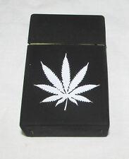 Black Marijuana Weed silicone rubber cigarette case cover pocket soft cigarette