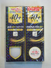 Double Fish 40+ 3 Star Table Tennis Ball  (New Material)