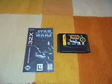Star wars Arcade + instructions sega mega drive 32x!!!