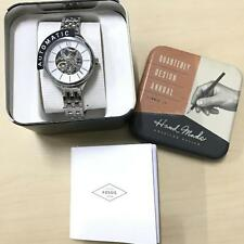 BRAND NEW FOSSIL BQ3051 AUTOMATIC SKELETON SILVER STAINLESS STEEL WOMEN'S WATCH
