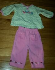 Baby Girls 6 Months Tops & Bottom Set Love Hearts Pink Carter's Just One Year