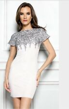 Holt Miami Dress Kora Nude In Silver NWT Size Small $379