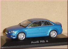 AUDI rs4 RS 4 Berlina Saloon Sedan 2005 Blu Blue Blue Azzurro Minichamps 1:43