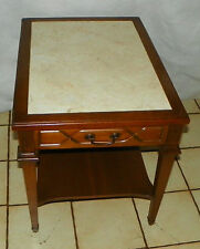 Mid Century Walnut Formica Top End Table / Side Table by Mersman  (T535)