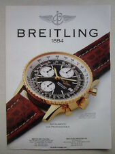 8/1991 PUB MONTRE BREITLING WATCHES OLD NAVITIMER ORIGINAL AD
