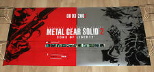 Metal Gear Solid 2 Sons of Liberty rare Promo Poster 84x43cm Playstation 2 PS2